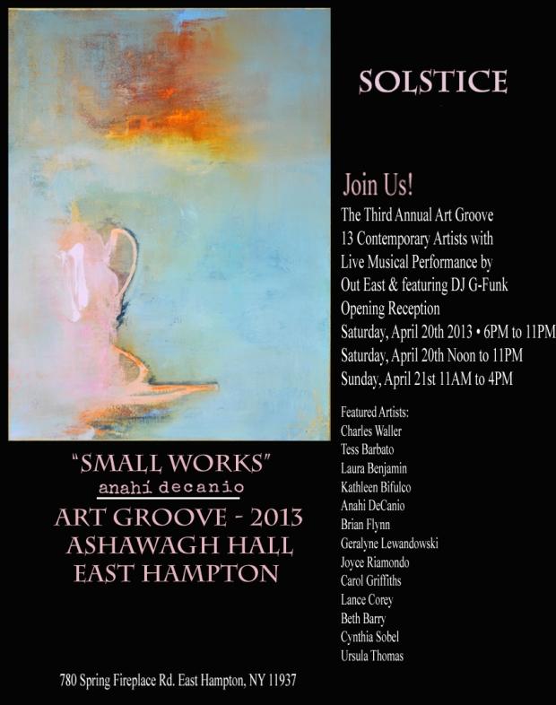Anahi DeCanio participates in Art Groove 2013 - East Hampton