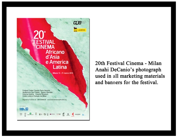 MILAN FILM FESTIVAL - Anahii's Photo used for Festival Materials
