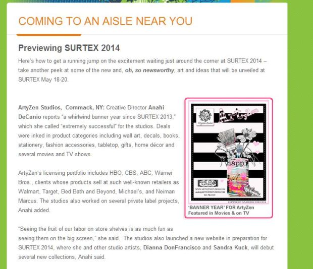 SURTEX 2014 - FEATURING ARTYZEN STUDIOS
