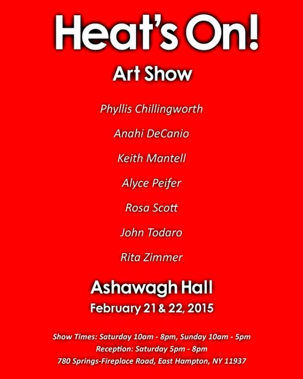 ASHAWAGH HALL - HEATS ON ART EXHIBIT - FEB 2015