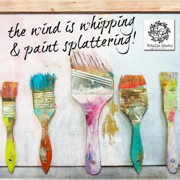 We treasure the old and LOVE our old paint brushes.  Every little spot of paint tells a story...