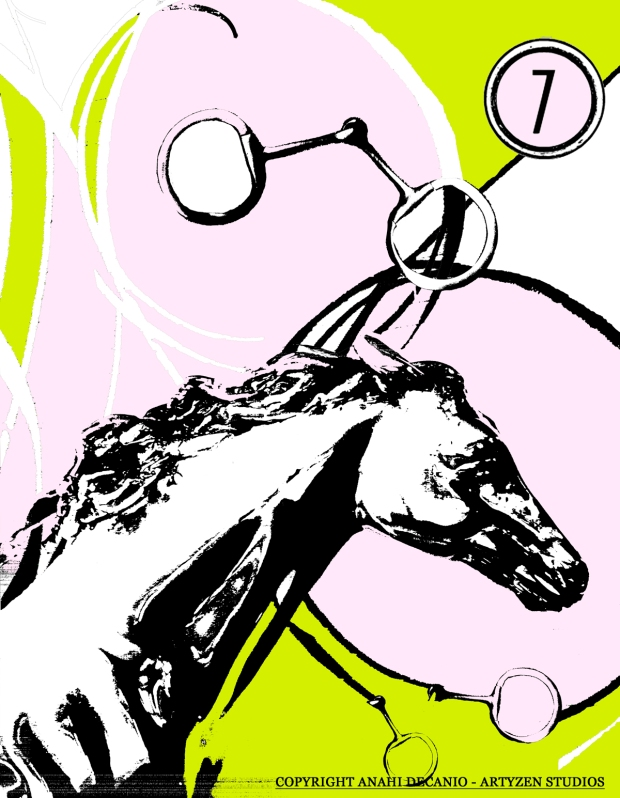 PALM BEACH EQUESTRIAN RIBBONS PRINT - Anahi DeCanio for ArtyZen Studios