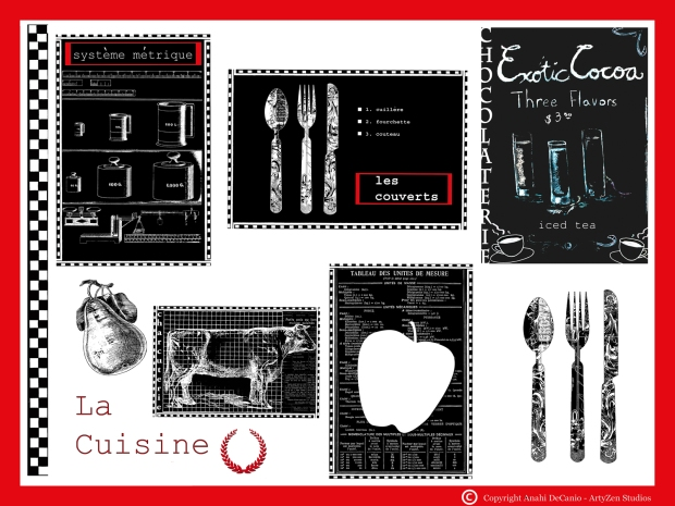FRENCH CUISINE BLACK AND WHITE