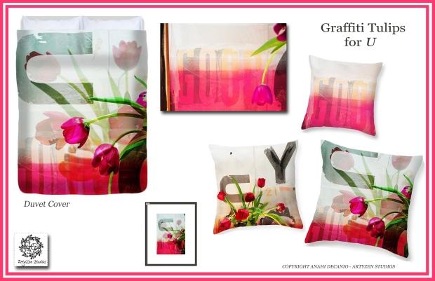 GRAFFITI TULIPS FOR YOU