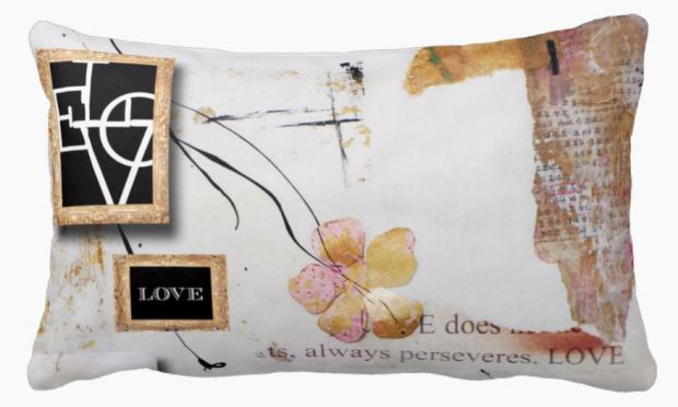 LOVE PERSEVERES PILLOW
