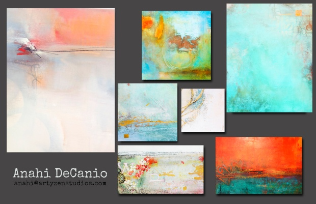 Abstracts on Canvas -Anahi DeCanio