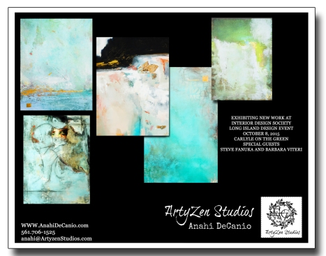 ANAHI DECANIO AT INTERIOR DESIGN SHOW - NEW ABSTRACTS