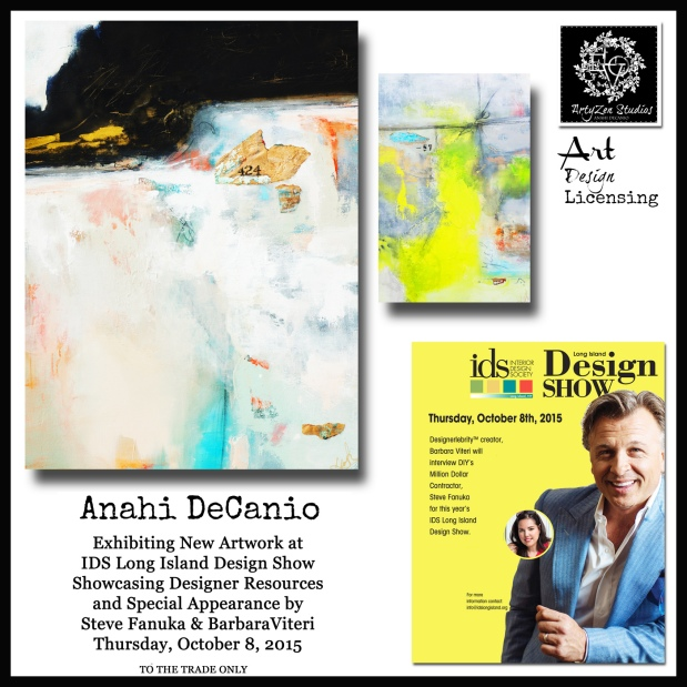 Award winning Long Island Artist Anahi DeCanio at Interior Design Show in Long Island