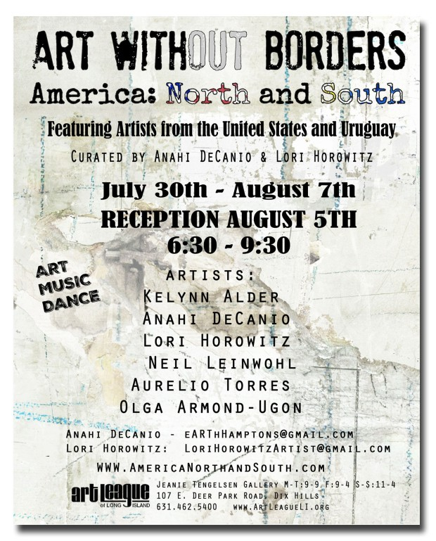 ART WITHOUT BORDERS AMERICA NOURTH AND SOUTH ANAHI DECANIO earthhamptons artyzen studios