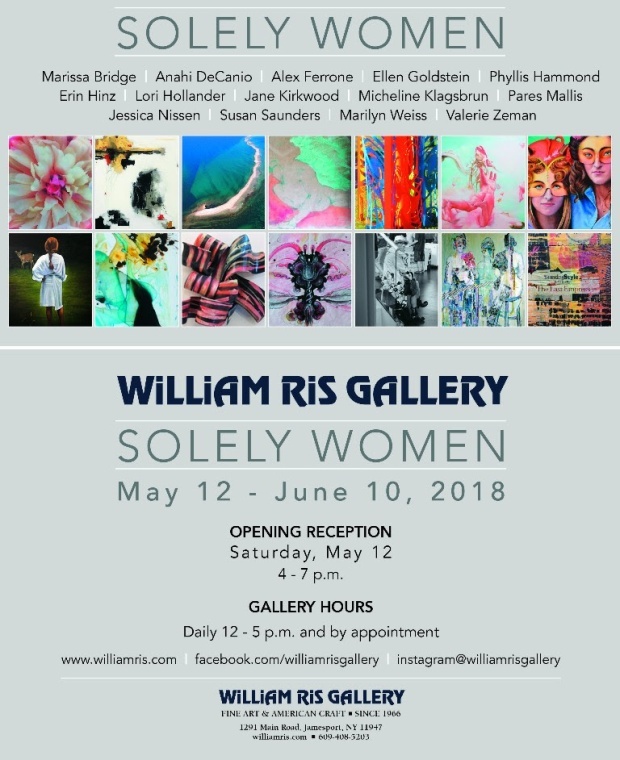 2018 EXHIBITIONS - SOLELY WOMEN WILLIAM RIS GALLERY MAY 2018