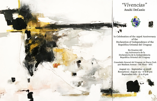 !!! 2018 ANAHI DECANIO EXHIBITS AT CONSULATE OF URUGUAY IN NEW YORK CITY