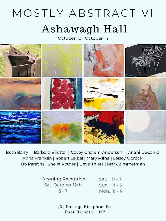 Anahi DeCanio exhibits in East Hampton at Mostly Abstract Art Exhibit 2019