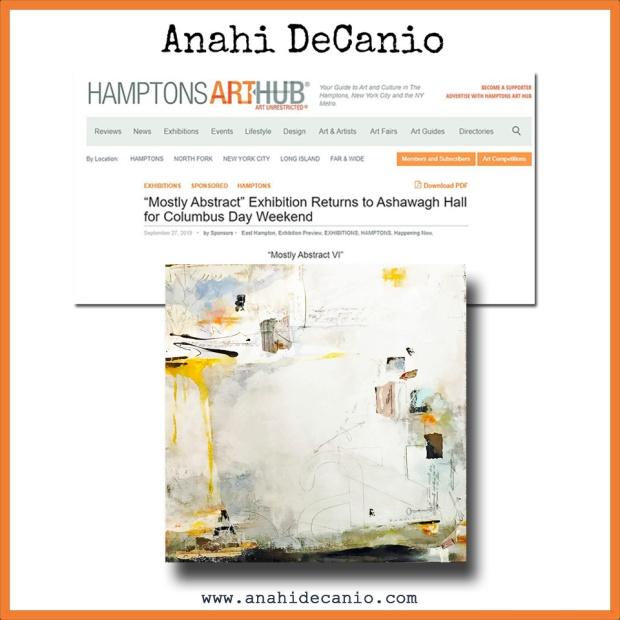 ANAHI DECANIO HAMPTONS INTERNATIONAL FILM FESTIVAL MOSTLY ABSTRACT SHOW arthub 2019