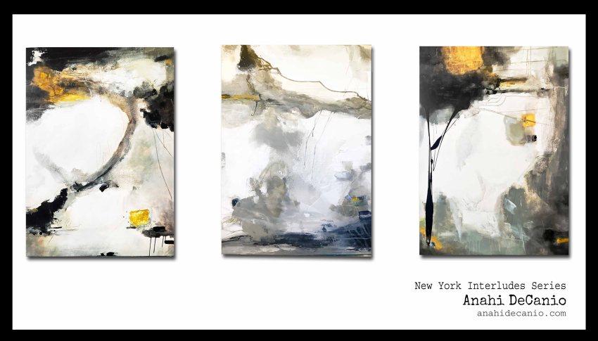 NY ABSTRACT ART - BLACK WHITE GOLD - ANAHI DECANIO ARTE ABSTRACTO LATIN AMERICAN ART
